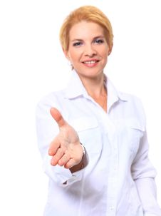 Free Smiling Business Woman Stock Photo - 20100940