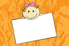 Cute Cartoon Girl Royalty Free Stock Image
