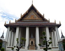Free The Ubosot Of Wat Suthat In Bangkok , Thailand Stock Photo - 20101510