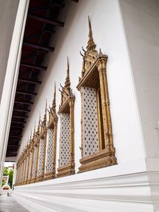 Window Of Ubosot Of Wat Suthat , Bangkok Royalty Free Stock Photo