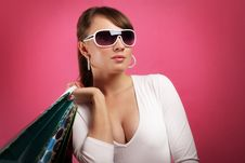 Free Stylish Girl With Shopping Bags Stock Photos - 20101703