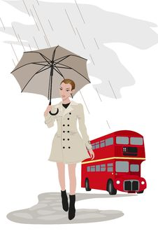 Woman In London Stock Photography
