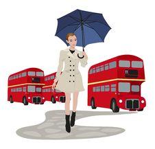 Woman In London Stock Photos