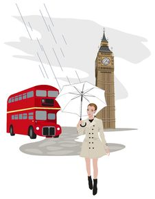 Woman In London Royalty Free Stock Photo