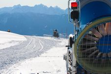 Free Snowmachine Austrian Alps Royalty Free Stock Photography - 20101967