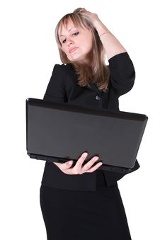 Free Woman Holding Notebook Stock Photos - 20102243