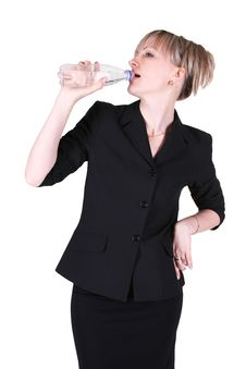 Free Businesswoman Drinking Water Royalty Free Stock Images - 20102259