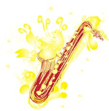 Free Abstract Sketchy Sax Royalty Free Stock Photo - 20102855