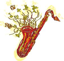 Free Abstract Sketchy Sax Royalty Free Stock Photography - 20102867