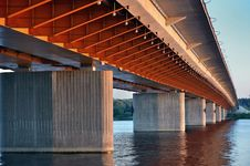 Free Orange Bridge Royalty Free Stock Image - 20103016
