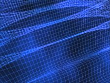 Free Blue Wave Grid Abstract Background Royalty Free Stock Photo - 20103205