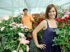 In A Greenhouse Royalty Free Stock Photography