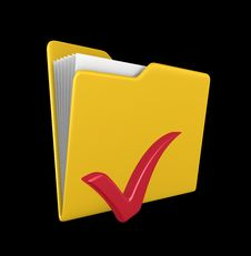 Free Yellow Folder -  3d Render Royalty Free Stock Photo - 20104495