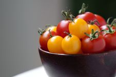 Free Cherry Tomatoes In A Bowl Royalty Free Stock Photos - 20104708