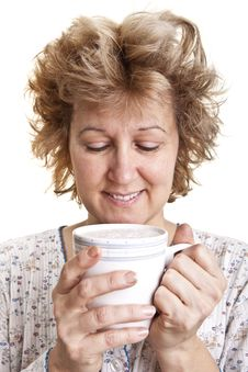 Free Woman Waking Up With A Coffee Stock Photos - 20105013
