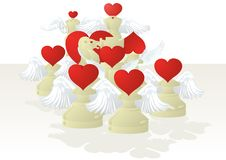 Free Amorous White Chessmen Royalty Free Stock Photography - 20105787