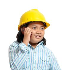 Free Engineer Girl On Phone Royalty Free Stock Photo - 20105915
