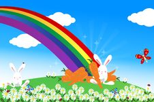 Free End Of Rainbow Royalty Free Stock Photo - 20106005