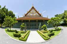 Free Front Of Thai Style Building Royalty Free Stock Images - 20106049