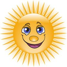 Orange Sun Stock Image
