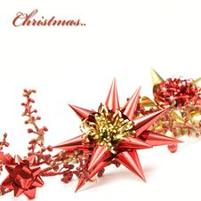Free Red And Gold Christmas Decoration Royalty Free Stock Photography - 20106447