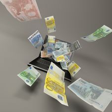 Free Laptop And Banknotes Royalty Free Stock Images - 20106499