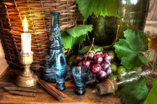Free Grapes,wine,grapevine,decanter And Candle Royalty Free Stock Photos - 20106738
