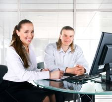 Free Two Business People Working In Team Stock Photos - 20106753