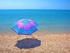 Free Beach Umbrella, Sea And Sky Royalty Free Stock Photography - 20107037