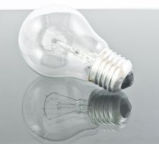 Light Bulb Isolated On Grey Stock Photo