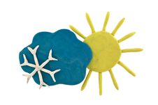 Free Plasticine Weather Forecast Stock Images - 20107414