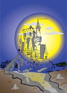 Free Night Castle Stock Image - 20107691