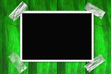 Free Picture Frame Isolated Stuck On A Wooden Wall Royalty Free Stock Photo - 20107845