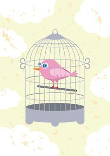 Free Bird In A Cage Royalty Free Stock Photography - 20108467