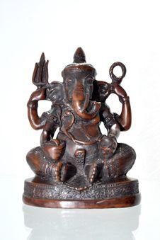 Elephant Headed Hindu Deity Stock Photo