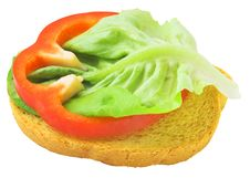 Free Delicious Toast With Salad Lief Royalty Free Stock Image - 20109096