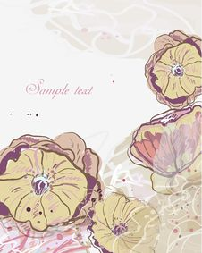 Free Abstract Watercolor Flowers Royalty Free Stock Photos - 20109098