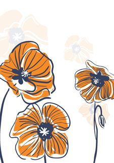 Free Orange Poppies Royalty Free Stock Images - 20109139