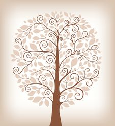 Free Stylized Tree Royalty Free Stock Photo - 20109635