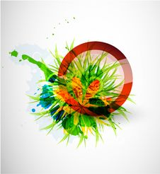 Free Abstract Floral Vector Circle Background Royalty Free Stock Photography - 20109657