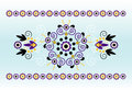 Free Horizontal Ornament With Flower Stock Photo - 20113350