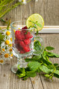 Free Fresh Ripe Raspberries And Camomile Flowers Royalty Free Stock Photo - 20115105