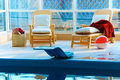 Free Beach Chairs By The Pool Royalty Free Stock Photos - 20116758