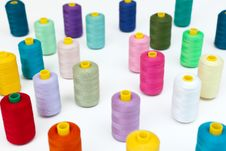 Free Cotton Bobbins In A Random Array. Stock Images - 20112034
