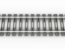 Free Chrome Rails And Concrete Sleepers №1 Stock Photography - 20112142