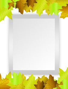 Free Blank Paper Green Leafs Royalty Free Stock Photography - 20112317