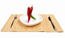Free Bright Red And Bright Green Chilli Pepper Stock Photo - 20112430