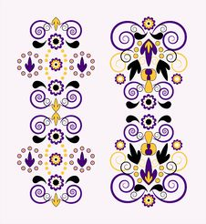 Free Vertical Ornament With Flower Royalty Free Stock Images - 20113269