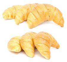 Free Three Croissant. Collage Stock Photos - 20113303