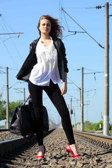 Free Railway Girl Stock Images - 20113374